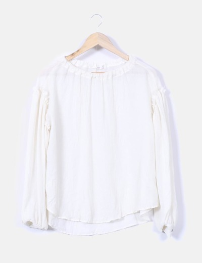 Blusa color crudo fluida