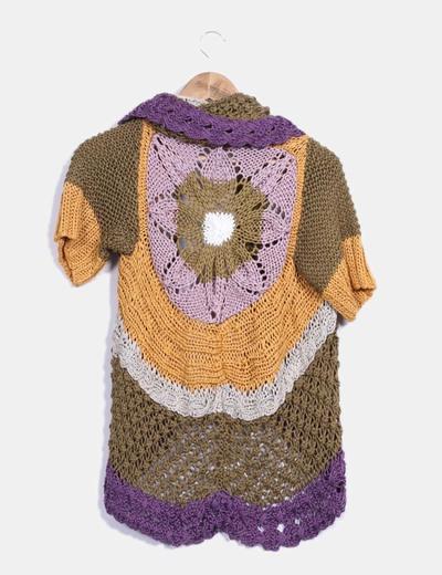 Cardigan tricot multicolor