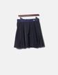 Falda de tablas negra con cintura azul Adolfo Dominguez