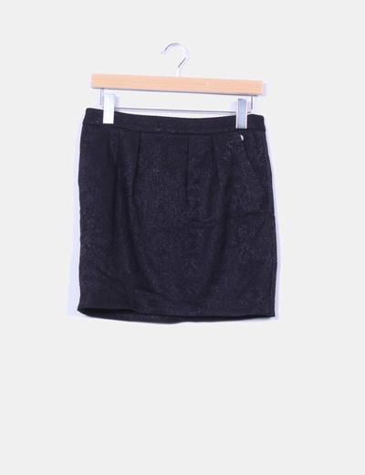 Jupe noire texture Promod