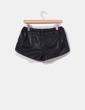 Shorts polipiel negro  Zara