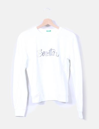 comprar popular d6dd0 af0ae Sudadera blanca print benetton