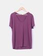 Camiseta burdeos cuello pico H&M