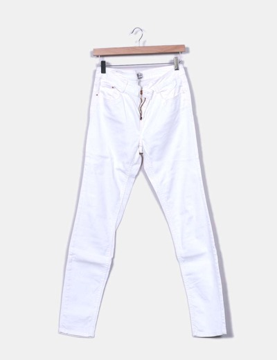 Jeans denim blanco Trafaluc