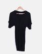 Vestido negro manga corta Zara