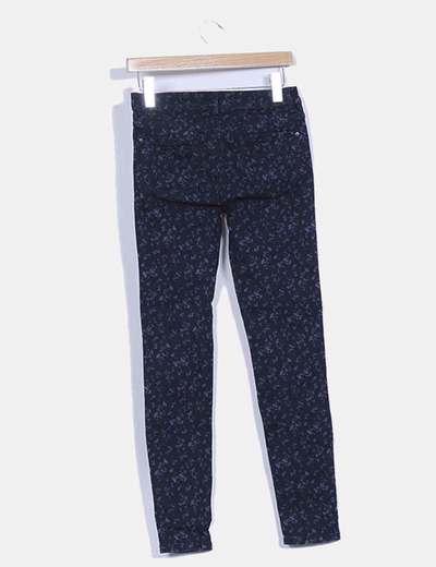 Pantalon azul marino estampado