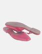 Zapato rojo destalonado efecto charol Zara