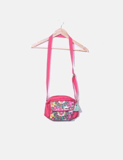 Bolso rosa estampado floral