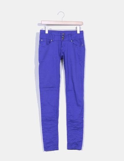 Pantalón azul klein triple botonadura Madonna