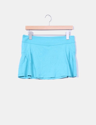 Mini falda azul  Bershka
