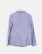 Camisa azul de rayas manga larga Lefties