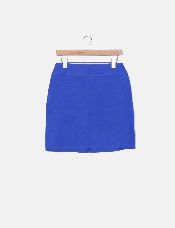 Faldas azul Falda pequeña hermana online bolsillos con baratas Mi  texturizada ZFwwBCqg0 ... 7648435af4ff