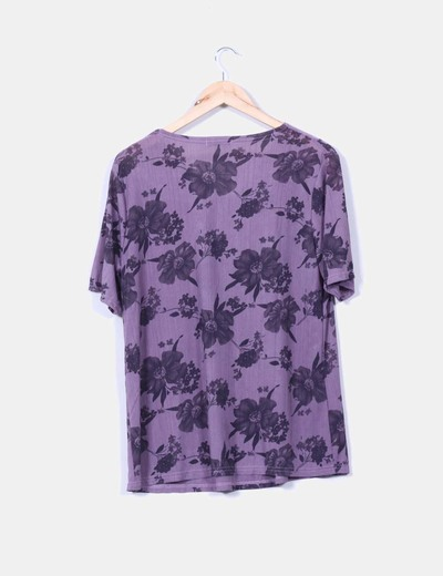 Blusa morada print floral