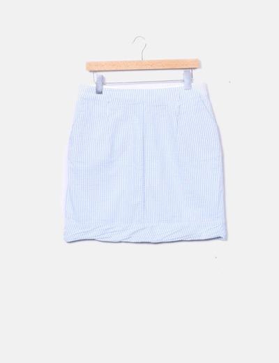 Falda de rayas con bolsillos