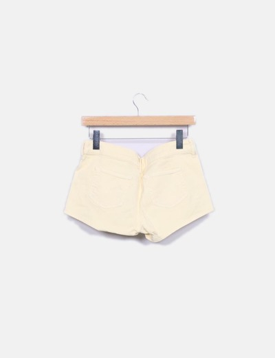 Short denim amarillo