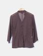 Blusa marrón transparente con lentejuelas Woman Borsache