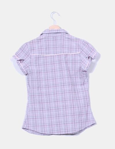 Camisa gris de cuadros