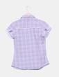 Camisa gris de cuadros Bershka
