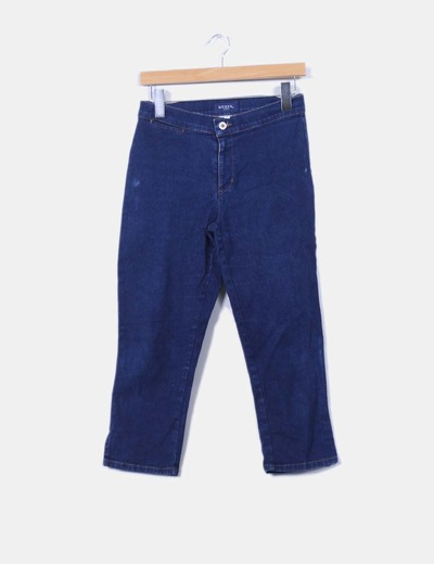 Pantalon denim pirata elastico