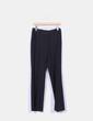 Pantalón sarga negro wide leg Easy Wear