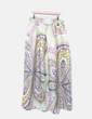 Maxi falda satinado estampado amarillo NoName