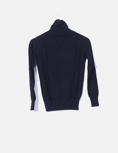 bcbca95b1404 Massimo Dutti Jersey negro cuello cisne (descuento 85 %) - Micolet