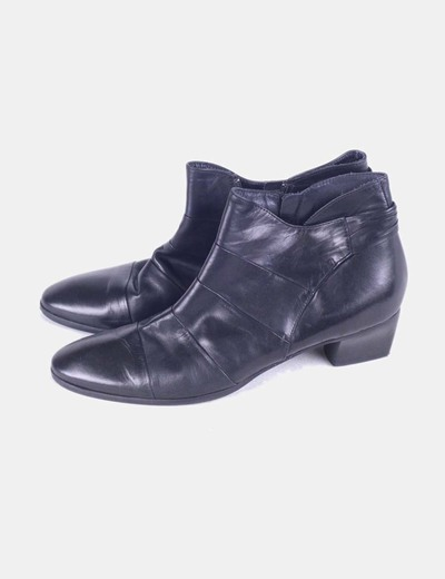 Bottines noires similicuir Made in Italy