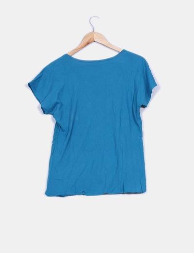 Camiseta basica azul petroleo