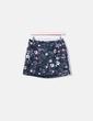 Minifalda floral con volante Zara