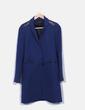 Manteau bleu marine long Maje