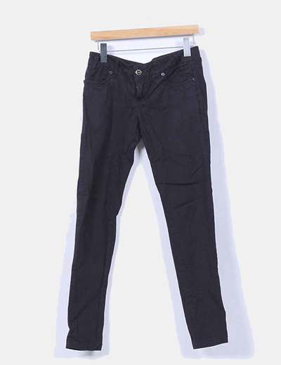Pantalón negro con rayas extra skinny Springfield