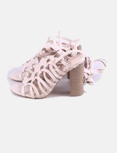89be738ee Sandalia tiras beige lace up JustFab