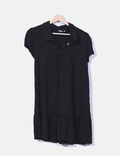 Vestido negro manga corta Suiteblanco