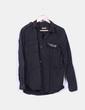 Camisa negra con strass Pull&Bear