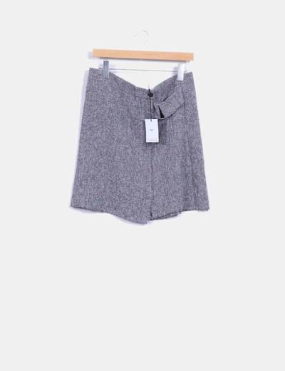 Falda cruzada tonos grises Lola May