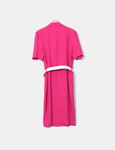 002e90328 NoName Vestido vintage midi fucsia (descuento 96%) - Micolet