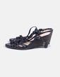Sandales noires compensées Clarks