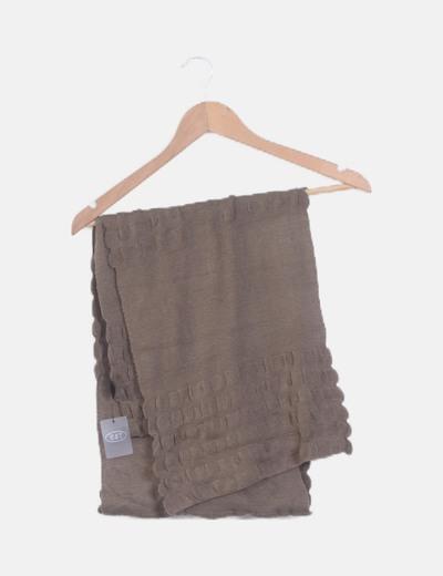 Bufanda tricot taupé