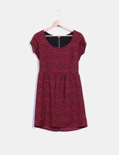 d07f7f20cb3 NoName Vestido rojo con estampado de leopardo (descuento 64 %) - Micolet