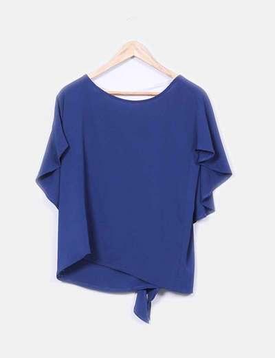 Blusa fluida azul marino NoName