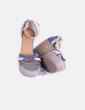Sandales à lanières en daim avec coin Tex Woman