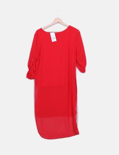 Bluson rojo semitransparente