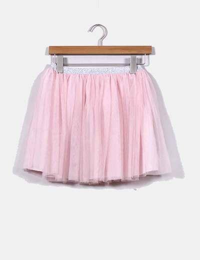 758025316 Zara Falda de tul rosa (descuento 76 %) - Micolet