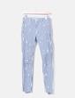 Pantalón rayas rotura en rodillas Zara