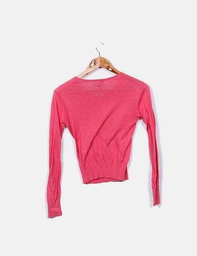 Jersey rosa escote pico