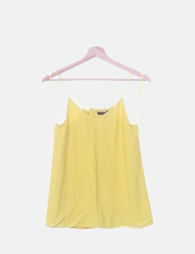Blusa amarilla con doble tirante