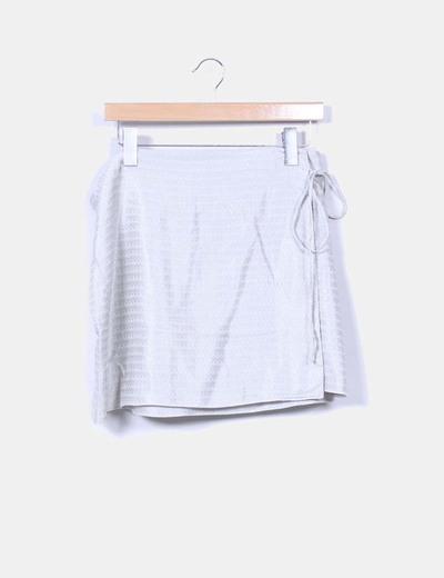 Falda estampada con cierre cruzado Mango