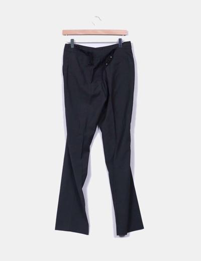 Pantalon recto gris