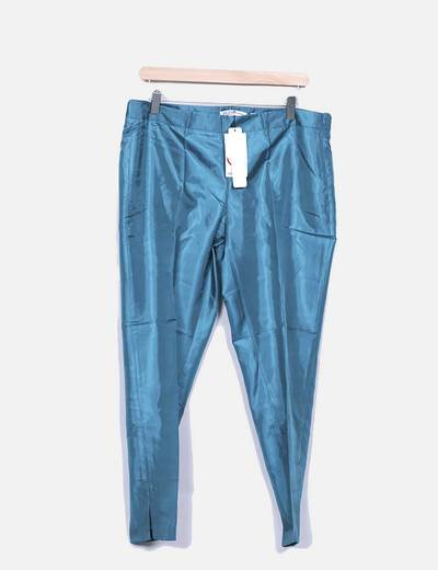 Pantalón verde satinado Suiteblanco