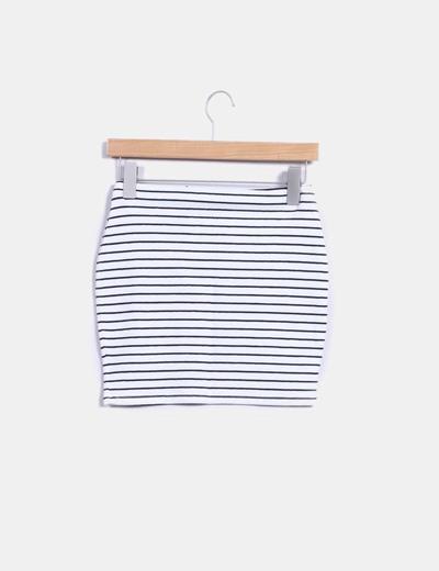 Falda tubo de rayas